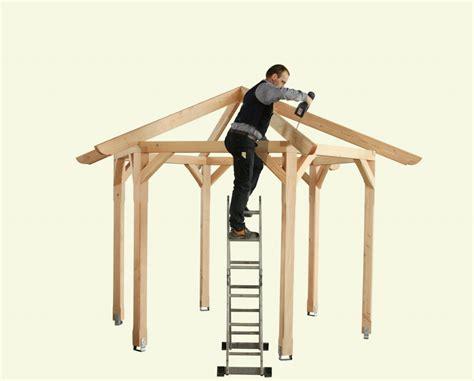 holzpavillon 3x3m gartenpavillon aufbauen die aufbauanleitung