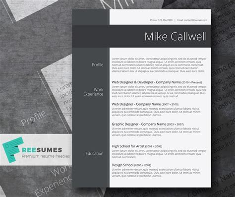 stylish resume templates word 100 free resume templates psd word utemplates