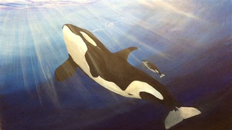 watercolor orca tutorial orca killer whales in acrylic acrylic painting for