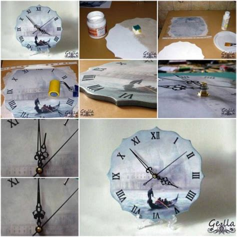 How To Make Decoupage - how to make clock decoupage step by step diy tutorial