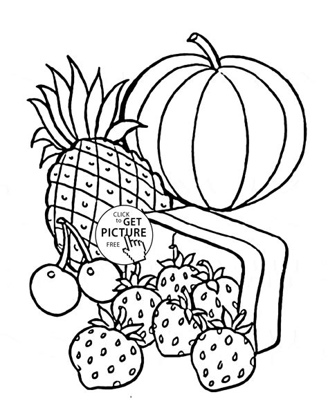 fruit coloring pages fruits coloring page for fruits coloring pages