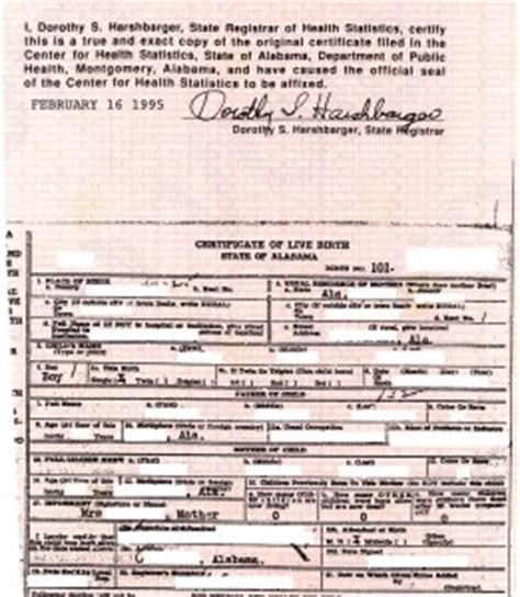 State Of Alabama Birth Records Doc C S Birth Certificate Obama Conspiracy Theories