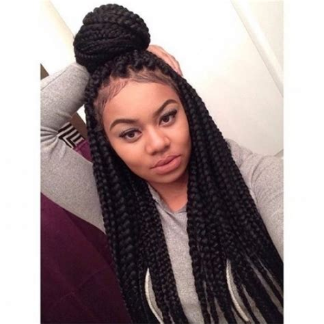images of medium size individual african american braids 40 big box braids styles herinterest inside big