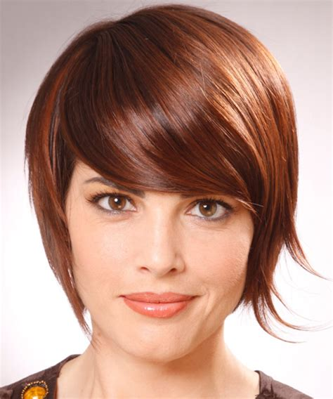 light straight bangs short straight alternative hairstyle with side swept bangs
