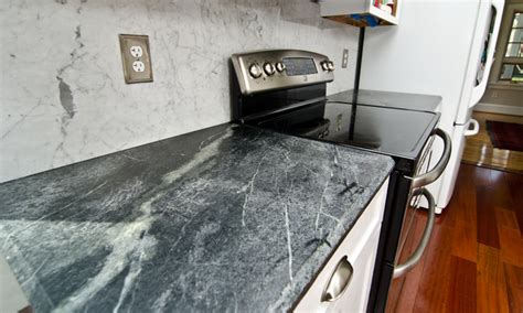Soapstone Countertops Maryland by Soapstone Counters With White Carrara Marble