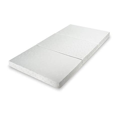 Portable Memory Foam Mattress by Zinus Sleep Master Memory Foam 4 Inch Tri Fold Comfort