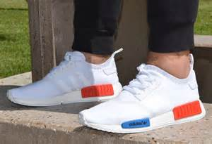 Light Up Bow Tie Adidas Nmd Primeknit On Feet Quot White Red Blue Quot