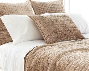 Quilted Coverlet King Soft Textured Light Brown Washable Velvet Coverlet Amp Shams