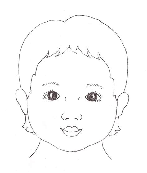 templates for face painting child face template re face outlines art ideas