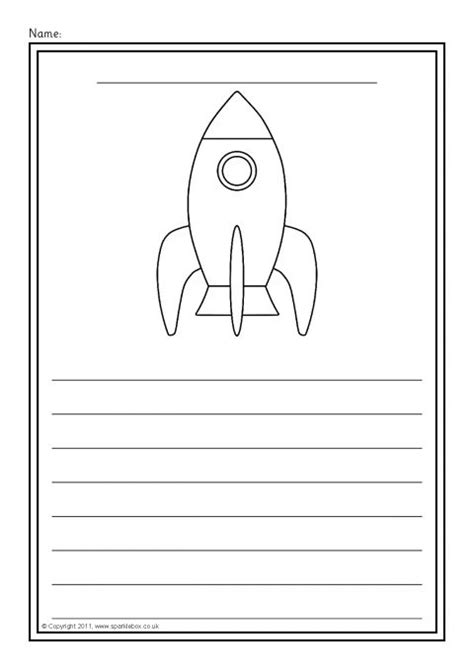 planet writing paper rocket writing template www pixshark images