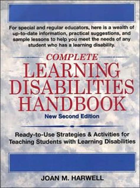 Search Handbook For With Disabilities Complete Learning Disabilities Handbook Ready To Use Strategies Activities For