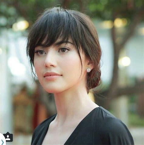 hairstyle thailand bangs hairstyle mai davika thai actress hair hair