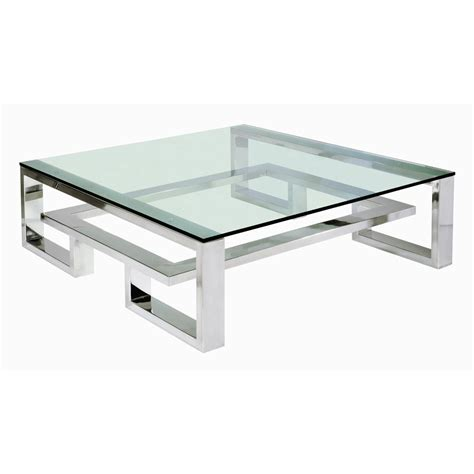 coffee table in stainless steel from villiers