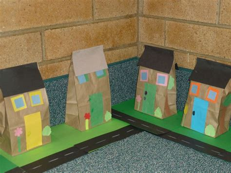 Paper Bag House Craft - paper bag houses education