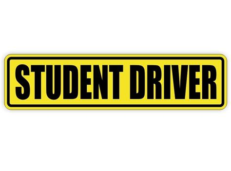 Student Driver Sticker student driver removable vinyl decal sticker label