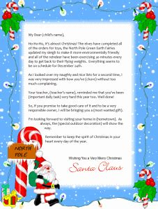printable letter from santa north pole free printable santa letter letter 1 backgrounds