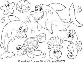 sea animals coloring pages to print vector animals ocean animals coloring pages free