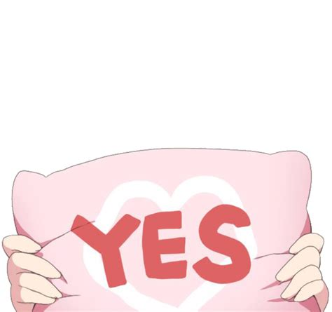 Meme Pillows - anime waifus say yes in the new yes pillow meme memes