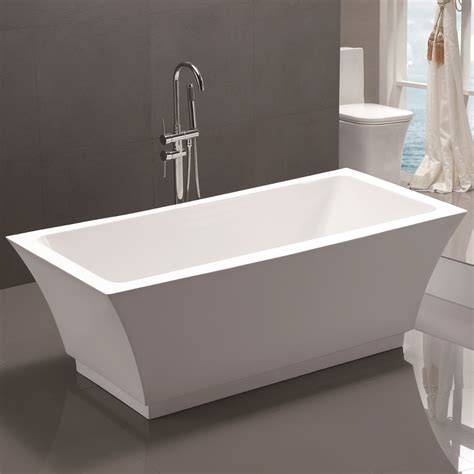 soaking bathtub reviews vanity art 59 quot x 29 5 quot freestanding soaking bathtub reviews wayfair