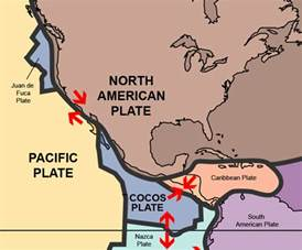 california tectonic plate map 6socialstudies mexico