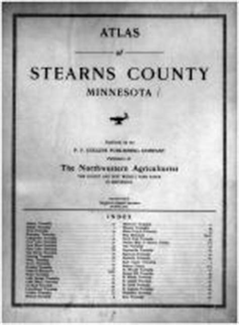 Stearns County Records Stearns County 1912 Minnesota Historical Atlas