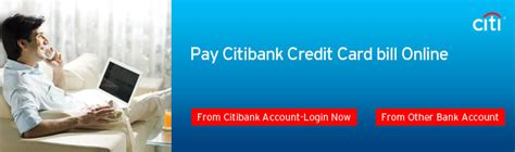 make payment to citibank credit card card payment citi india