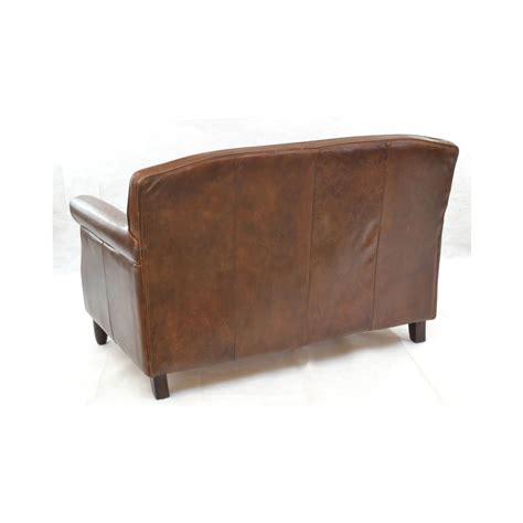 leather bench sofa inadam furniture vintage leather 2 seater sofa leather
