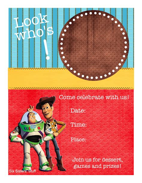 Toy Story Themed Birthday Party With Printables Six Sisters Stuff Six Sisters Stuff Story Invitation Template Free
