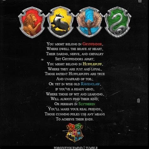 houses song part of sorting hat song harry potter hats sorting hat song and slytherin