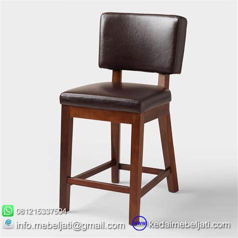 Kursi Bar Minimalis kursi bar jok kulit model minimalis kayu jati jepara
