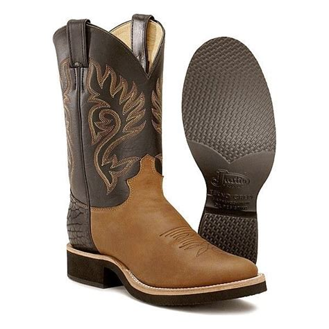 mens cowboy boots made in usa s justin tekno crepe cowboy western boots style 5008