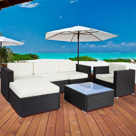 pc outdoor patio garden furniture wicker rattan sofa set