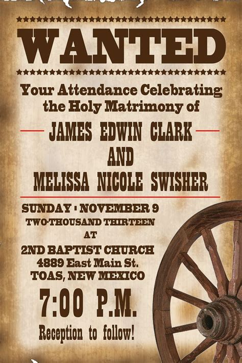 Wiral Template By Theme Country Rustic Wedding Invitation Wording Sles Rustic Western