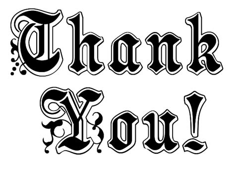 Thank You Letter Sign Barry
