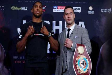 Dc Celamis Standar the standard kenya anthony joshua makes prediction for joseph fight as heavyweight