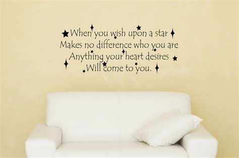 when you wish upon a wall sticker when you wish upon a disney decal disney quote decal