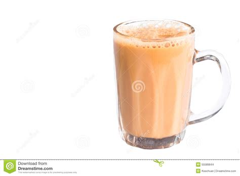 Teh White Tea tea with milk or popularly known as teh tarik in malaysia