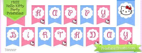 hello birthday banner template free hello birthday printables printable treats
