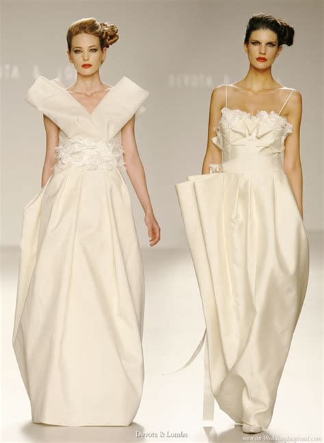 Origami Wedding Dress - devota lomba wedding dresses wedding inspirasi