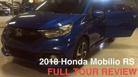 Mobilio 1 5 Rs Cvt 2018 honda mobilio 1 5 rs navi cvt tour review