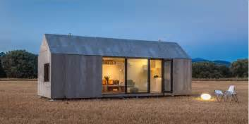 modern mobile homes modern prefab home for two from architecture firm