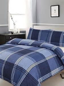 Navy Duvet Set Double Bed Duvet Quilt Cover Bedding Set Hamilton Check