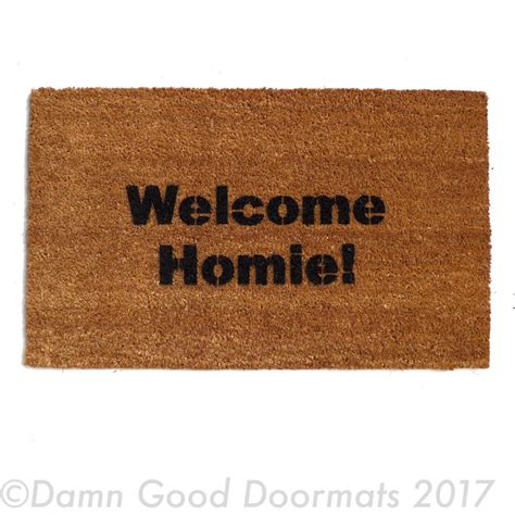 funny welcome mats welcome homie funny door mat doormat eco friendly home