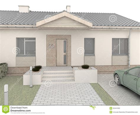 classic house design front side stock illustration