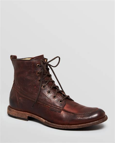 frye leather work boots phillip in brown for