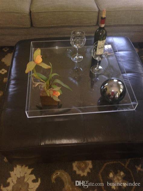 acrylic ottoman tray 2018 hot sale clear acrylic ottoman trays lucite service