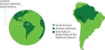 rainforest map search south america