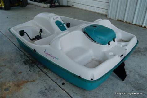paddle boat rudder aquatoy 5 person paddle boat