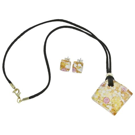 murano jewelry sets venetian reflections jewelry set