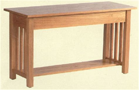 solid oak mission sofa table clayborne s of sc